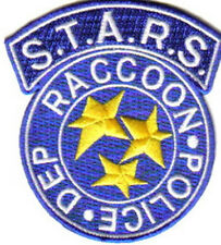 Resident Evil S.T.A.R.S. Raccoon Police Blue Logo Embroidered Patch NEW UNUSED