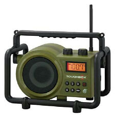 SANGEAN TB100 TOUGHBOX RECHARGEABLE RUGGED OUTDOOR PORTABLE AM FM RADIO AUX IN