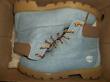 Timberland Authentic Light Blue Jean Denim Work Boots Shoes Club Casual Tims 5