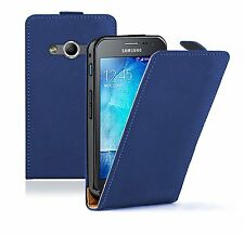 Ultra Slim BLUE Leather Flip Case Cover for Samsung Galaxy Xcover 3  + 2 FILMS