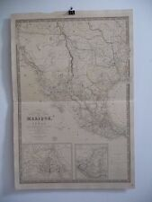 AMERICANA - SCARCE WALL MAP - Brué - Mexico California Texas, 1840