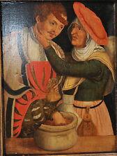 Antique German 16th Century Renaissance Oil Painting on Wood : L. Cranach