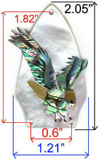 TR2# Truss Rod Cover W Eagle in Paua Abalone & White Mother of Pearl 1.5mm thick