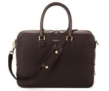 Aspinal of London Mount Street Laptop Bag. Chocolate Brown Saffiano. See Details