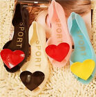 New Lovely Womens Jelly Peep Toe Ballet Flats Shoes Candy Colors