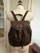 CANYON OUTBACK 100% genuine leather goods backpack daypack supple brown