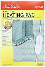 Sunbeam 938-511 Microplush King Size Heating Pad with LED Controller, New