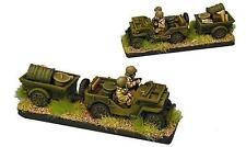 Forged in Battle US Jeep platoon with supply trailer x 4 vehicles 15mm 1/100 FoW