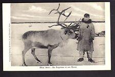 POLE NORD Thématique polaire esquimaux deux amis : un esquimau et son renne