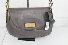 NWT MARC BY MARC JACOBS NEW Q NATASHA CROSSBODY SHOULDER BAG LEATHER GRAY/GOLD
