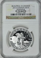 Canada 2013 S$10 Silver Inukshuk Beautiful O Canada NGC Proof-70 Matte Coin