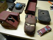 VINTAGE METAL TOY SHOVEL CAB PARTS AND TRUCK PARTS