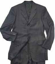 Calvin Klein Suit 42L long ITALY 3-button 100% Cashmere Grey Pinstripe 36 Pants
