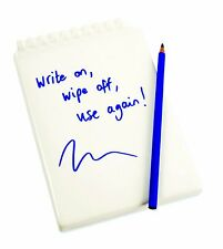 Addject Wipeable Ceramic Memo Writing Pad Re-Usable Medium Note Pad with Pencil
