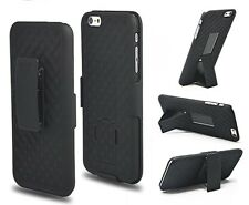 NEW SHELL HOLSTER BELT CLIP COMBO CASE WITH KICKSTAND FOR APPLE IPHONE 6  6S