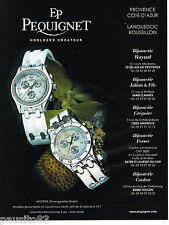 PUBLICITE ADVERTISING 065  2007  EP PEQUIGNET  montre MOOREA CHRONO QUARTZ