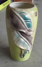 "Vintage 1950s Royal Copley Leaf Design Vase 8 1/2"" Tall"