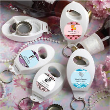 60 Personalized Bottle Opener Keychains Birthday Baby Party Wedding Favors