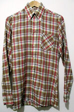"""Vintage Mens 70s Pink & Blue Check Disco Shirt XS 36"""" (34-36) *PRICE REDUCED*"""