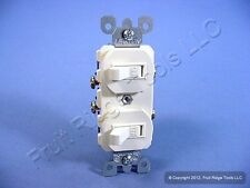 New Cooper Almond DOUBLE Toggle Duplex Wall Light Switch 15A Single Pole 271A