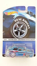 Hot Wheels 2015 Real Riders 6/18 Custom Chevy Greenbrier Sports Wagon 1:64 (A+/A