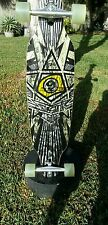 "Sector 9 Skateboard 39"" LongBoard 74mm nineballs 50* wide drop thru trucks skate"