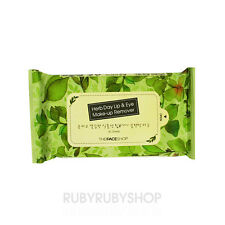 THE FACE SHOP Herb Day Lip & Eye Make Up Remover Tissue - 2Pack (60pcs)
