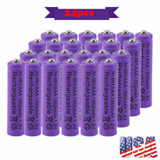 24x AAA 1800mAh 1.2 V Ni-MH Rechargeable Battery Purple for MP3 RC Toy Camera VP