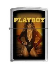 Zippo 4758 Playboy Cover-March 1977 Brushed Chrome Lighter