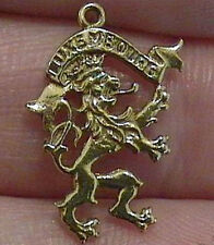 14k gold vintage LUXEMBOURG LION CREST charm Luxemburg