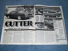 """1987 Monte Carlo SS Aerocoupe Spec Info Article """"Cutter"""""""