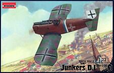 JUNKERS D I (SHORT) - WW I FIRST ALLMETAL FIGHTER (LUFTWAFFE MKGS) 1/72 RODEN