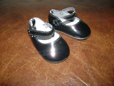 "AMERICAN GIRL DOLL 18"" BLACK DRESSY SHOES SAMANTHA EMILY NELLIE FELICITY RETIRED"