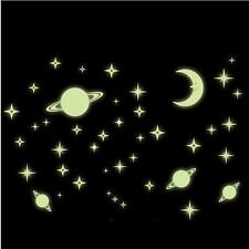 NEW Universe Stars Glow In The Dark Wall Sticker Home Decor Kids DIY Decal Room