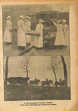 Baking Job London Boulangères Travail Londres Tommies  WWI 1917 ILLUSTRATION