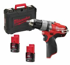 Trapano Avvitatore Milwaukee 12volt Litio Fuel 2.0ah M12 CDD-202C Nuovo 2016
