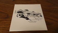 Old covered Bridge Esperence NY Tile Trivet VINTAGE  #23