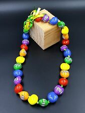 GAY PRIDE Kukui Nut Lei 18'' 30-Nut Necklace