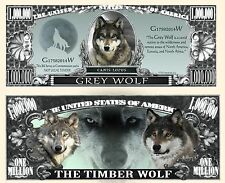 Grey Wolf Novelty Bill with Protector and Free shipping Buy 3 get 1 free