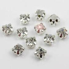 100 4mm * Aaa * - sew-on-clear-crystal-glass-rhinestones-diamante Vidrio Calidad 1794