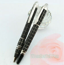 New 2 Pcs Set Mont Blanc Rubber Rollerball + Ballpoint Pen With MB Box -Imported