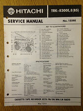 Hitachi TRK-8300E Service Manual Radio Cassette Tape Recorder Vintage HiFi 80's