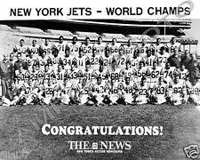 1968 NEW YORK JETS NFL SUPER BOWL 3 III CHAMPIONS 8X10 TEAM PHOTO #2