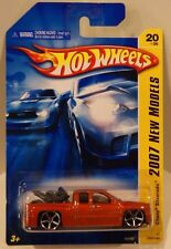 2007 Hot Wheels New Models Chevy Silverado w/Bike Orange #20/36