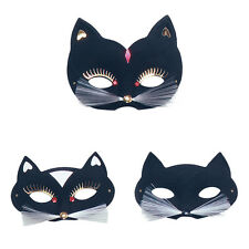 Black Cat Domino Eye Mask Halloween Venitian Fancy Dress Costume Prop