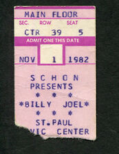 1982 Billy Joel Concert Ticket Stub St. Paul MN Nylon Curtain Allentown
