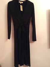 BNWT 100% auth by Michael Kors ladies Classy AMALFI Black dress. XS RRP £180