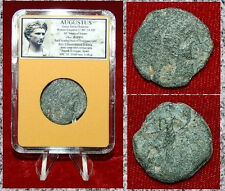 Ancient Roman Empire Coin AUGUSTUS Bust Of Augustus On Obverse Irippo Mint