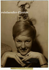 "Anny Nelsen, coiffure ""pomme de pin"", original-photo de 1959"