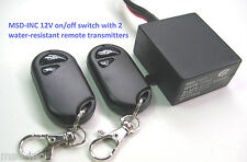 MSD 12v multi purpose on/off switch with 2 water-resistant remote control keyfob